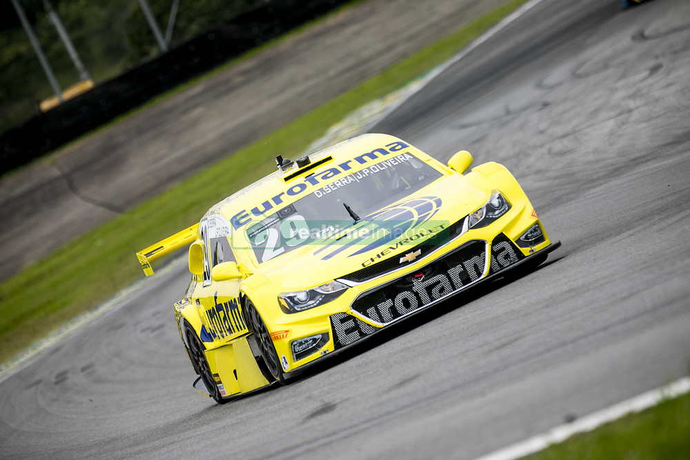 March 9, 2018 - Sao Paulo, Sao Paulo, Brazil - Mar, 2018 - Qualifying training for the pair stage of the Stock Car 2018, at the Autodromo de Interlagos, in São Paulo, this Friday (9). The pilots DANIEL SERRA and JOÃO PAULO OLIVEIRA of the team EUROFARMA-RC (photo) were in pole position. (Credit Image: © Marcelo Chello via ZUMA Wire)