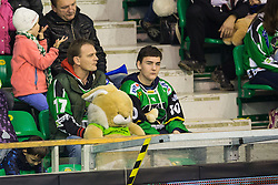 "25.11.2012, Hala Tivoli, Ljubljana, SLO, EBEL, HDD Telemach Olimpija Ljubljana vs HC TWK Innsbruck ""Die Haie"", 24. Runde, in picture Fans and toy rabbit during the Erste Bank Icehockey League 22nd Round match between HDD Telemach Olimpija Ljubljana and HC TWK Innsbruck ""Die Haie"" at the Hala Tivoli, Ljubljana, Slovenia on 2012/11/25. (Photo By Matic Klansek Velej / Sportida)"