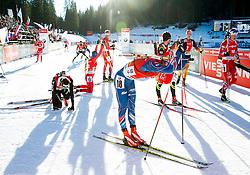 MORAVEC Ondrej (CZE) and other athletes after the Men 12,5 km Pursuit at day 3 of IBU Biathlon World Cup 2014/2015 Pokljuka, on December 20, 2014 in Rudno polje, Pokljuka, Slovenia. Photo by Vid Ponikvar / Sportida