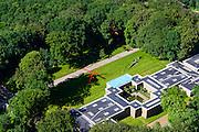 Nederland, Gelderland, Gemeente Ede, 09-06-2016; Nationaal Park De Hoge Veluwe, Museum Kroller-Muller. Hoofdgebouw en entree.<br /> Sculpture garden Museum Kroller-Muller.<br /> luchtfoto (toeslag op standard tarieven);<br /> aerial photo (additional fee required);<br /> copyright foto/photo Siebe Swart