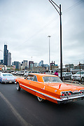 On October 16, 2013 Chicago's Lowrider community cruised from Pilsen to City Hall to be acknowledged by city council for its artistry and cultural legacy in Chicago.