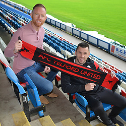 AFC Telford United announce new signing Aaron Williams at the New Bucks Head Stadium, Telford on Monday, June 17, 2019.<br /> <br /> Free for editorial use only<br /> Picture credit: Mike Sheridan/Ultrapress<br /> <br /> MS201819-001