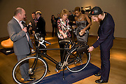 TOLULA ADEYEMI; ELSE OKE WITH THE PRADA BIKE. The Lighthouse Gala Auction in aid of the Terrence Higgins Trust. Christie's. 23 March 2009.