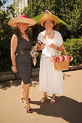 Th 2010 Royal Horticultural Society Chelsea Flower show in the grounds of Royal Hospital Chelsea, London on 24th May 2010.<br /> <br /> Picture shows:-Left to right, LADY FORTE and Dorrit Moussaieff