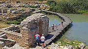 Israel, Maagan Michael, Nahal Taninim - Crocodile Stream national park, The ancient floodgate device and Roman Aqueduct