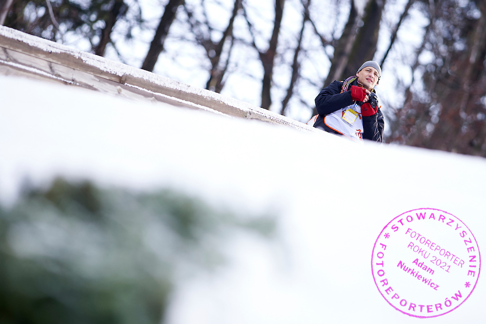 Photographer Piotr Hawalej (Wrofoto Agency) shoots pictures during FIS World Cup Ski Jumping competition in Wisla, Poland on January 15, 2015.<br /> <br /> Poland, Wisla, January 15, 2015.<br /> <br /> Picture also available in RAW (NEF) or TIFF format on special request.<br /> <br /> For editorial use only. Any commercial or promotional use requires permission.<br /> <br /> Mandatory credit:<br /> Photo by &copy; Adam Nurkiewicz / Mediasport