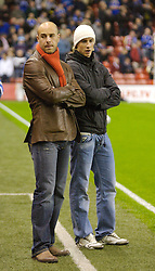 LIVERPOOL, ENGLAND - Wednesday, October 31, 2007: Liverpool's goalkeeper Jose Pepe Reina and Fernando Torres before the League Cup 4th Round match against Cardiff City at Anfield. (Photo by David Rawcliffe/Propaganda)