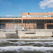 February 19, 2015 - New York, NY : Treated water leaves the Newtown Creek Wastewater Treatment Plant in Greenpoint, Brooklyn on Thursday afternoon. The plant is the largest of New York City's 14 wastewater treatment plants. CREDIT: Karsten Moran for The New York Times