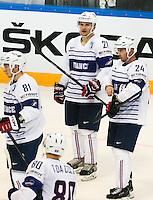 Deceptions Antoine Roussel / Julien Derosiers - 07.05.2015 - Republique Tcheque / France - Championnat du Monde de Hockey sur Glace <br />Photo : Xavier Laine / Icon Sport