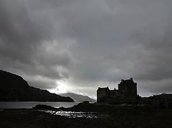 UK SCOTLAND EILEAN DONAN CASTLE 8OCT13 - Landcape around Eilean Donan Castle, Loch Duich, western Scotland.<br /> <br /> The iconic Eilean Donan Castle is a rebuilt castle at Dornie in the Scottish Highlands. It is located on Eilean Donan, an island near the point where the sea lochs Loch Duich, Loch Alsh and Loch Long meet.<br /> <br /> jre/Photo by Jiri Rezac<br /> <br /> © Jiri Rezac 2013