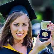 "24.08.2016        <br /> Over 300 students graduated from the Faculty of Science and Engineering at the University of Limerick today. <br /> <br /> Attending the conferring ceremony was Bachelor of Science in Mathematics and Physics graduate, Shaunagh Downing who received a Gold Medal for Joint First Place Overall, Class of 2016. Picture: Alan Place.<br /> <br /> As the University of Limerick commences four days of conferring ceremonies which will see 2568 students graduate, including 50 PhD graduates, UL President, Professor Don Barry highlighted the continued demand for UL graduates by employers; ""Traditionally UL's Graduate Employment figures trend well above the national average. Despite the challenging environment, UL's graduate employment rate for 2015 primary degree-holders is now 14% higher than the HEA's most recently-available national average figure which is 58% for 2014"". The survey of UL's 2015 graduates showed that 92% are either employed or pursuing further study."" Picture: Alan Place"