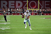 Dallas Cowboys quarterback Dak Prescott (4) runs for a second quarter touchdown that ties the score at 7-7during the 2017 NFL week 3 regular season football game against the against the Arizona Cardinals, Monday, Sept. 25, 2017 in Glendale, Ariz. (©Paul Anthony Spinelli)