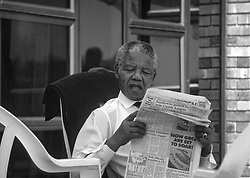 60799688  File photo taken on 01.09.1990, shows former South African President Nelson Mandela in Johannesburg, South Africa.<br /> File Photo- Nelson Mandela Dead: Former South African President Has Died At 95. The former South African president had been suffering from a recurring lung infection on Thursday December 05, 2013.<br /> Picture sent Friday, 6th December 2013. Picture by  imago / i-Images<br /> UK ONLY