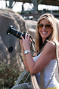 Andrea Brake photographing wildlife at the San Diego Zoo, California.