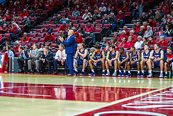 NORMAL, IL - November 06:  Bruins bench during a college basketball game between the ISU Redbirds and the Belmont Bruins on November 06 2019 at Redbird Arena in Normal, IL. (Photo by Alan Look)