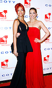 Rihanna and Katharina Harf pose at the 5th Annual DKMS Gala at Cipriani Wall Street in New York City on April 28, 2011.