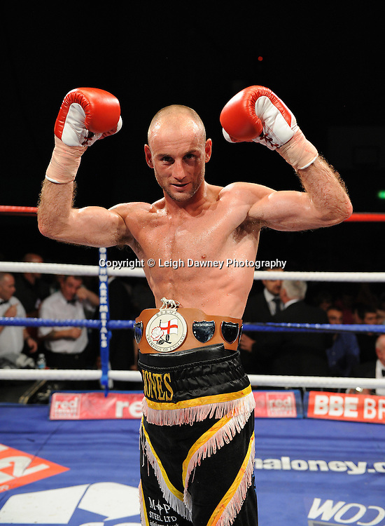Ben Jones defeats Akaash Bhatia for the English Super Featherweight Title at Medway Park, Gillingham, Kent, UK on 13th May 2011. Frank Maloney Promotions. Photo credit © Leigh Dawney 2011.