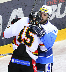 16.12.2011, Albert Schultz Halle, Wien, AUT, European Trophy, HC Plzen 1929 vs Lulea Hockey, im Bild Mattias Persson, (Lulea Hockey, #15) und Nicholas Johnson, (HC Plzen 1929, #80) , EXPA Pictures © 2011, PhotoCredit: EXPA/ T. Haumer