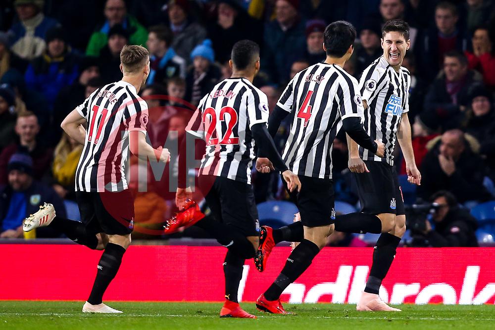 Federico Fernandez of Newcastle United celebrates with teammates after scoring a goal to make it 1-0 - Mandatory by-line: Robbie Stephenson/JMP - 26/11/2018 - FOOTBALL - Turf Moor - Burnley, England - Burnley v Newcastle United - Premier League