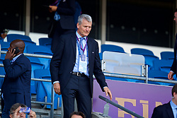 CARDIFF, WALES - Thursday, June 1, 2017: Former Manchester United executive and current UEFA Treasurer David Gill during the UEFA Women's Champions League Final between Olympique Lyonnais and Paris Saint-Germain FC at the Cardiff City Stadium. (Pic by David Rawcliffe/Propaganda)