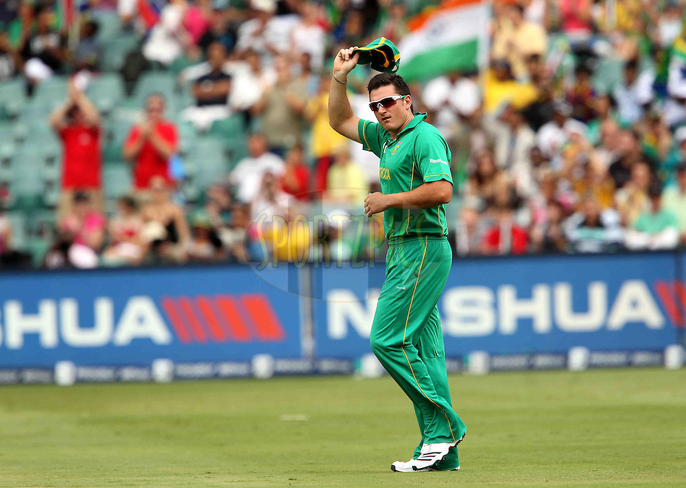 Graeme Smith of South Africa  leads the Proteas onto the field for a record 139th time during the 2nd ODI between South Africa and India held at Wanderers Stadium in Johannesburg, South Africa on the 15th January 2011..Photo by Ron Gaunt/BCCI/SPORTZPICS