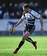 POntypridds' Gearing Walsh<br /> Photographer Mike Jones/Replay Images<br /> <br /> Principality Premiership Merthyr v Pontypridd - Saturday 17th February 2018 - The Wern Merthyr Tydfil<br /> <br /> World Copyright &copy; Replay Images . All rights reserved. info@replayimages.co.uk - http://replayimages.co.uk
