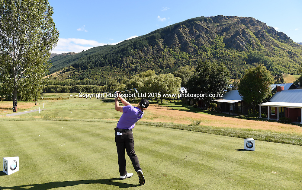 New Zealand's Joshua Munn during round one of the 2015 BMW New Zealand Golf Open, Millbrook Resort, Arrowtown, New Zealand Thursday 12 March 2015. Copyright Photo: Andrew Cornaga / www.photosport.co.nz
