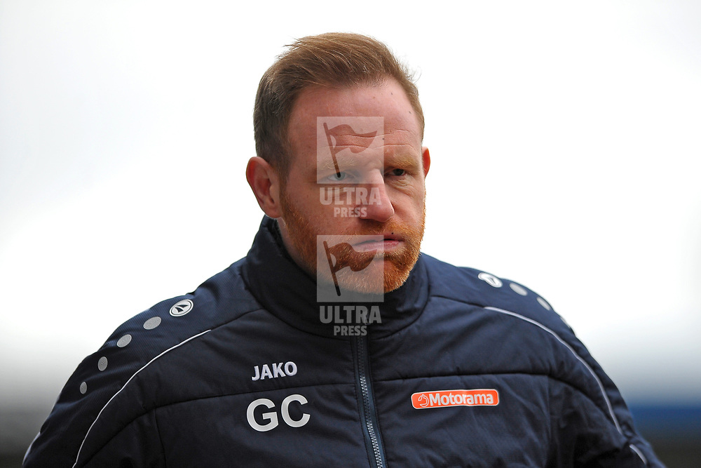 TELFORD COPYRIGHT MIKE SHERIDAN  An angry Gavin Cowan during the Vanarama Conference North fixture between AFC Telford United and Darlington at The New Bucks Head on Saturday, March 7, 2020.<br /> <br /> Picture credit: Mike Sheridan/Ultrapress<br /> <br /> MS201920-049