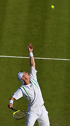 LONDON, ENGLAND - Monday, June 23, 2008: Lleyton Hewitt (AUS) in action during his first round match on day one of the Wimbledon Lawn Tennis Championships at the All England Lawn Tennis and Croquet Club. (Photo by David Rawcliffe/Propaganda)