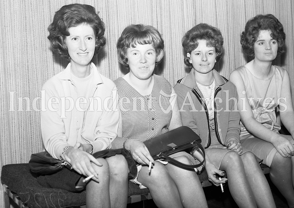 Girls at the Garda Basketball Club Dance in Clearys Ballroom on September 11 1964.<br />