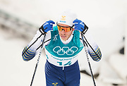 PYEONGCHANG-GUN, SOUTH KOREA - FEBRUARY 11: Marcus Hellner of Sweden dejected during the Mens Skiathlon 15km+15km Cross-Country Skiing on day two of the PyeongChang 2018 Winter Olympic Games  at Alpensia Cross-Country Centre on February 11 in Pyeongchang-gun, South Korea. Photo by Nils Petter Nilsson/Ombrello               ***BETALBILD***
