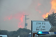 Huge forest fire rages on the Carmel Mountain South of Haifa Israel. International efforts to contain the fire have been going on for the last 3 days. December 2th 2010. The fire at Kibbutz Bet Oren.