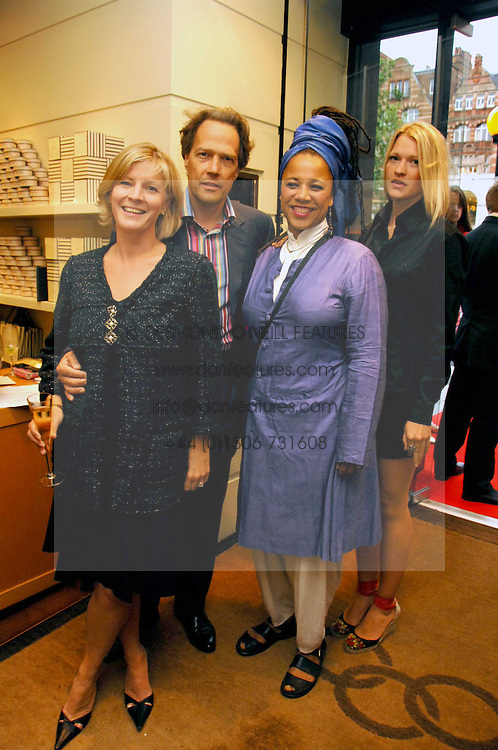Left to right, The EARL & COUNTESS OF MARCH, his sister MRS GAVIN BURKE, she is actress Nimmy March and LADY ALEXANDRA GORDON-LENNOX at a party hosted by Links of London to celebrate the forthcoming Glorious Goodwood racing event held at links, Sloane Square, London on 25th July 2007.<br /><br />NON EXCLUSIVE - WORLD RIGHTS