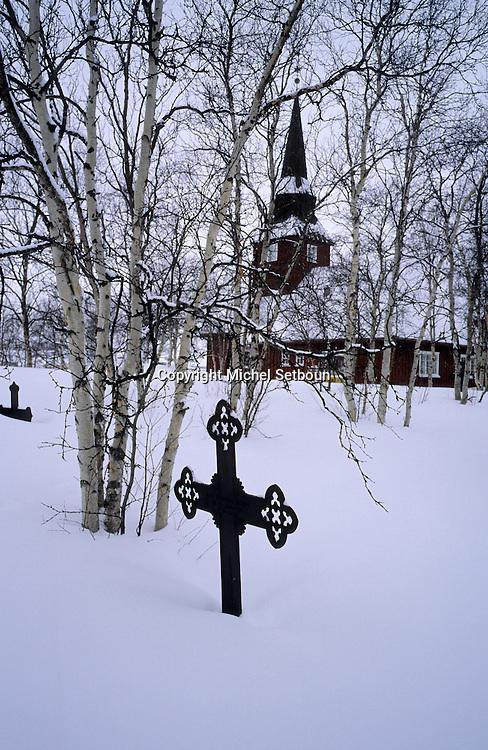 Samis (lap people). cemetery of Kautokeino  Lapland  Norway        Les Samis (lapons); cimetière des lapons de Kautokeino,   Laponie,   Norvege       L004765  /  R00330  /  P111307
