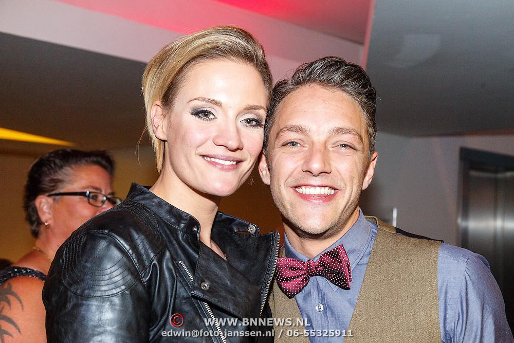 NLD/Tilburg/20150913 - Premiere musical Grease, Tommie Christiaan en partner Michelle Splietelhof