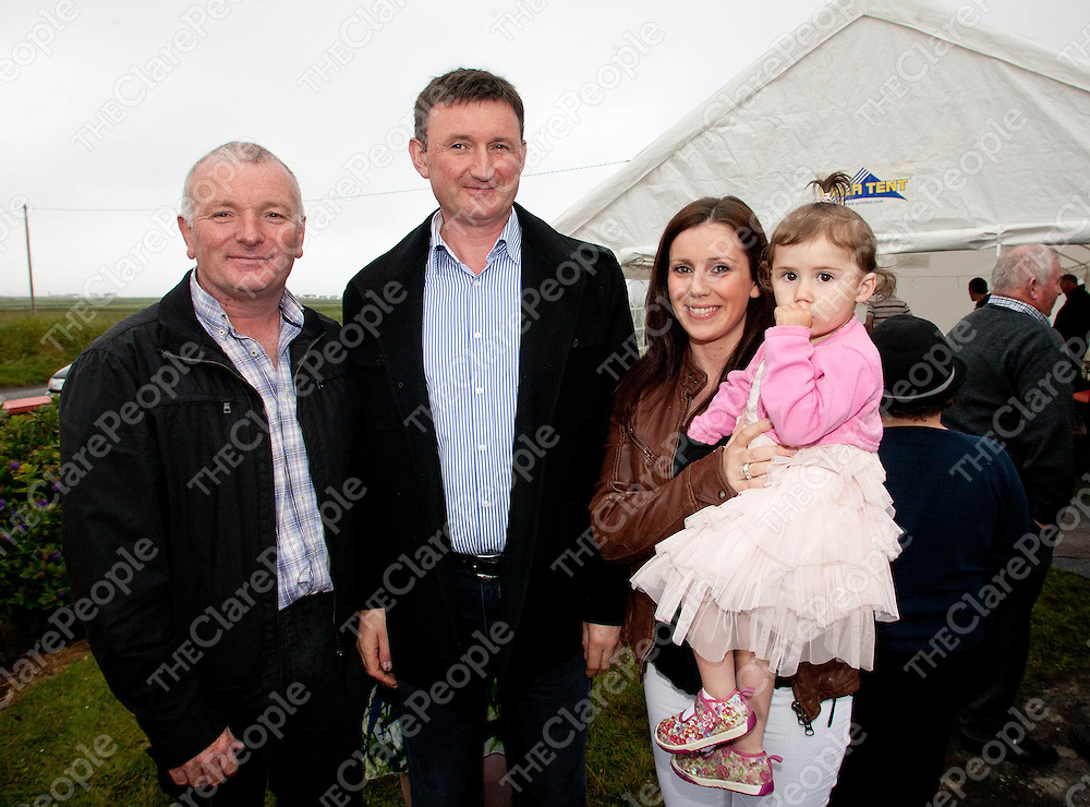 15.06.12 <br /> Kilbaha NS 50th Anniversary celebrations. Attending the event were, John Bonfil, Padder Garvey, Ailish and Orla Connolly<br /> . Picture: Alan Place/Press 22.