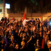 December 11, 2012 - Cairo, Egypt: Tens of thousands gather outside the presidential place in Cairo to voice their anger at the planned constitution, which will be put to a referendum next Saturday...The Egyptian army has reportedly called talks between President Mohamed Morsi and the opposition to end violent protests against a draft constitution...Sporadic clashes between supporters and opponents of president Mohamed Morsi, erupted in the past week over his assumption of extraordinary powers and the scheduling of the referendum. (Paulo Nunes dos Santos/Polaris)