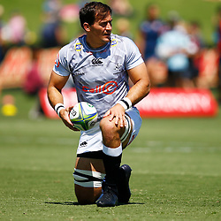 Henco Venter of the Cell C Sharks during the super rugby match between the Melbourne Rebels and the Cell C Sharks at the  Mars Stadium,Ballarat,Western suburbs of Melbourne,Victoria, Australia, 22,020,2020 (Photo Steve Haag /HollywoodBets)