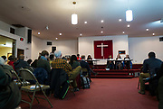 Candidates present their positions during the South Side Madison Madison School Board public forum hosted by Mount Zion Baptist Church in Madison, Wisconsin, Tuesday, March 6, 2018.