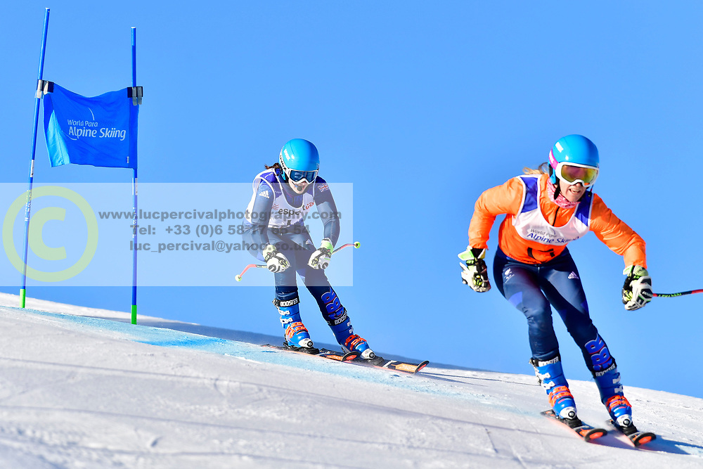 FITZPATRICK Menna Guide: KEHOE Jennifer, B2, GBR, Giant Slalom at the WPAS_2019 Alpine Skiing World Cup, La Molina, Spain