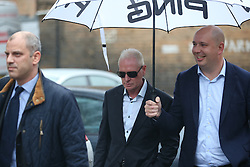 © Licensed to London News Pictures. 29/10/2015. Bournemouth, UK. Paul Gascoigne arrives at Bournemouth Magistrates Court on harassment charges. Photo credit: Peter Macdiarmid/LNP