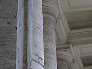 Architectural column detail in Saint Peter's Square in the Vatican City, Italy. The actual square was designed by Gian Lorenzo Bernini.