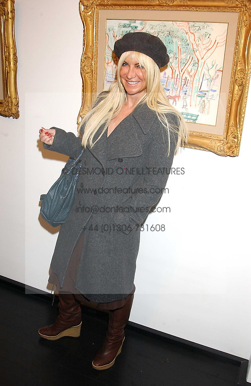 MEG MATHEWS at the opening of an exhibition of paintings and watercolours by Raoul Dufy held at the Opera Gallery, 134 New Bond Street, London W1 on 6th February 2006.<br /><br />NON EXCLUSIVE - WORLD RIGHTS