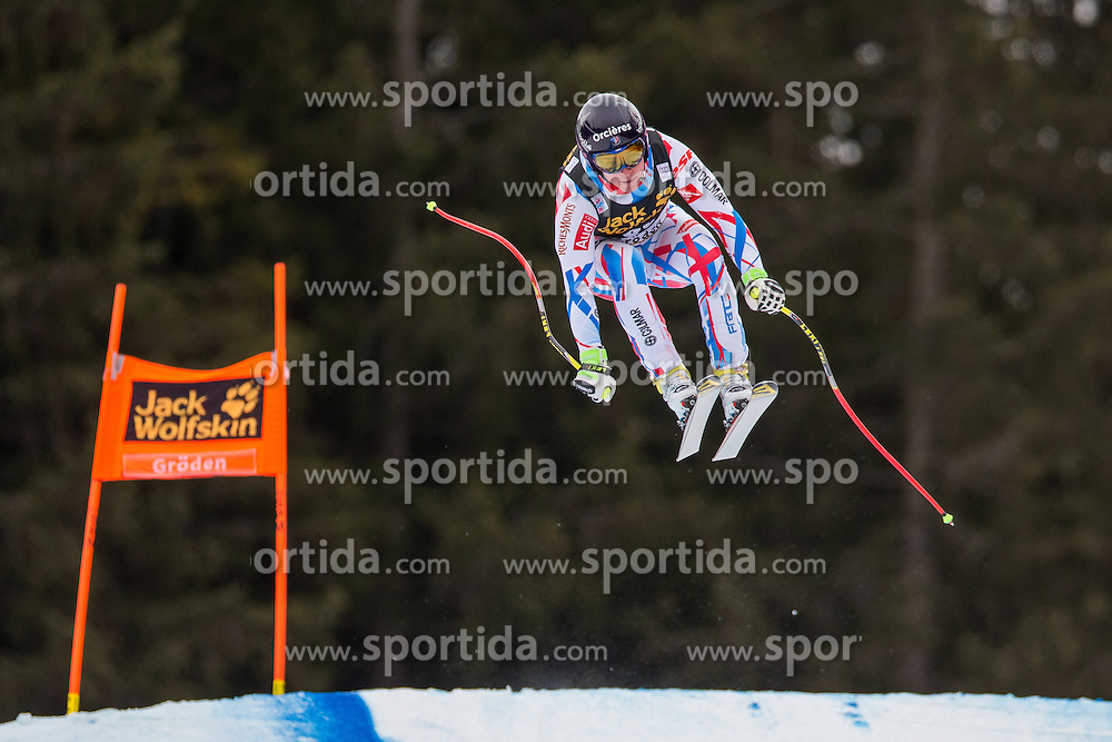16.12.2015, Saslong, Groeden, ITA, FIS Ski Weltcup, Herren, Abfahrt, 1. Training, im Bild Valentin Giraud Moine (FRA) // Valentin Giraud Moine of France in action 1st downhill practice of the Groeden FIS Ski Alpine World Cup at the Saslong Course in Gardena, Italy on 2015/12/16. EXPA Pictures © 2015, PhotoCredit: EXPA/ Johann Groder