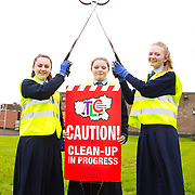 04.04.2017              <br /> Ard Scoil Mhuire, Corbally were out in force doing their bit for TLC3. Pictured are, Emma Ryan, Joanne Cross and Mollyann O'Halloran. Picture: Michael Andrews