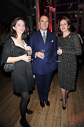 Left to right, CELIA HAYLEY, AA GILL and CAROLINE MICHEL at the annual Orion Publishing Group's Author party held in the Paul Hamlyn Hall, The Royal Opera House, Covent Garden, London on 15th February 2011.