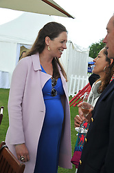 TAMARA VESTEY at the Cartier Queen's Cup Polo Final, Guards Polo Club, Windsor Great Park, Berkshire, on 17th June 2012.