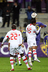 Baiano of NK Braga and Marcos Tevares of NK Maribor at 3th round of European Leauge football match between Nk Maribor and Nk Braga, November 20, 2011, in Maribor, Slovenia (Photo by Urban Urbanc / Sportida ) .
