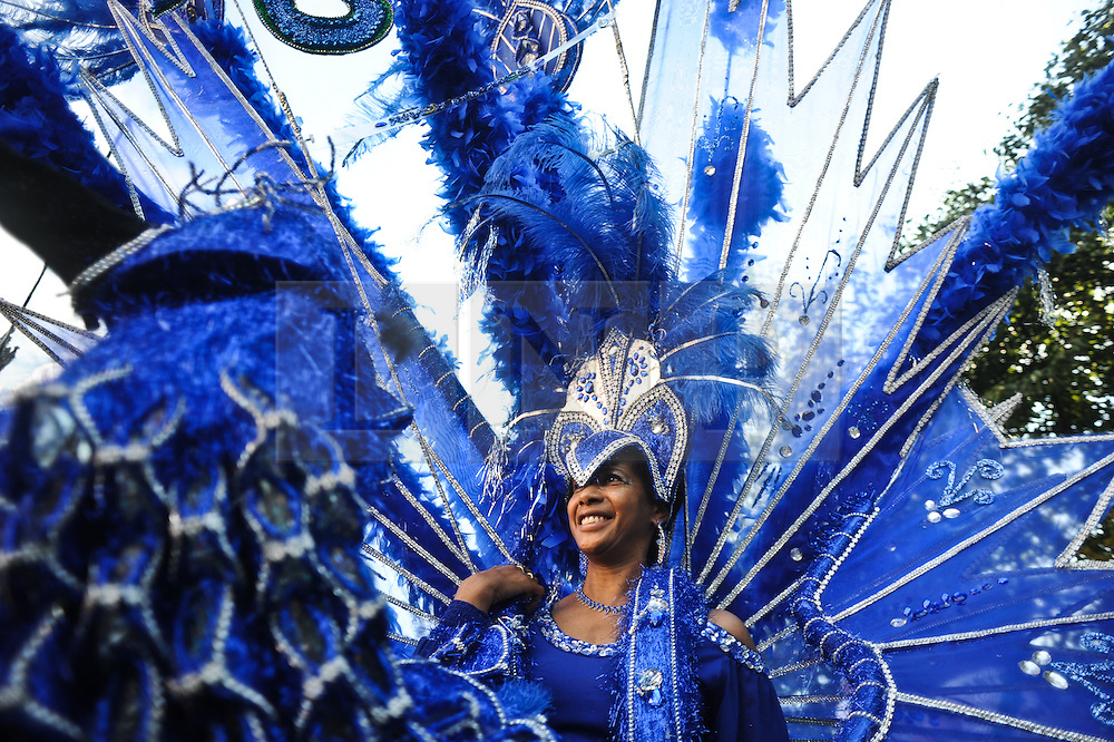 "© Licensed to London News Pictures. 08/09/2012. London,UK.Homage to Rio spectacle  part of ""The Mayor's Thames Festival 2012"" from the London Eye to St Katharine docks and beyond . London's Largest free festival sees 800,000 descend on the banks of the Thamsea from 8th to 9th September.Photo credit : Thomas Campean/LNP..."
