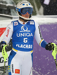 15.01.2016, Hermann Maier Weltcupstrecke, Flachau, AUT, FIS Weltcup Ski Alpin, Flachau, Damen, Slalom, 2. Lauf, im Bild Maria Pietilae-Holmner (SWE) // Maria Pietilae-Holmner of Sweden reacts after her 2nd run of Ladie's Slalom for the FIS Ski Alpine World Cup at the Hermann Maier Weltcupstrecke in Flachau, Austria on 2016/01/15. EXPA Pictures © 2016, PhotoCredit: EXPA/ Johann Groder